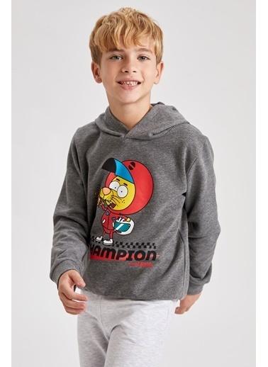 DeFacto Erkek Çocuk Kral Şakir Lisanslı Sweatshirt Gri